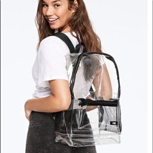 Pink Clear Backpack